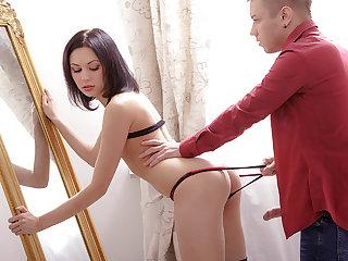 18 year old Vikki surprises stud during her virgin sex with her naughty antics