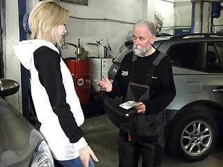 Frances prefers parking lot to hotel room when fucking old goes young guy